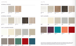 modern finishes colour chart