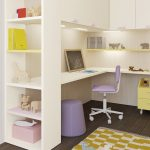 Desk area with holly bookcase