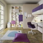Purple cabin bed