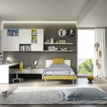 Modern Teenage room in muted colours and pops of colours